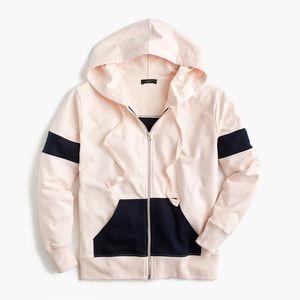 J. Crew Colorblock zip-up hoodie sweatshirt